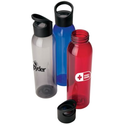 22 oz. Cylinder AS Water Bottle w/ Carry Handle Lid