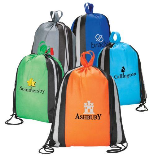 Reflective Drawstring Shopper Sport Bag/Backpack