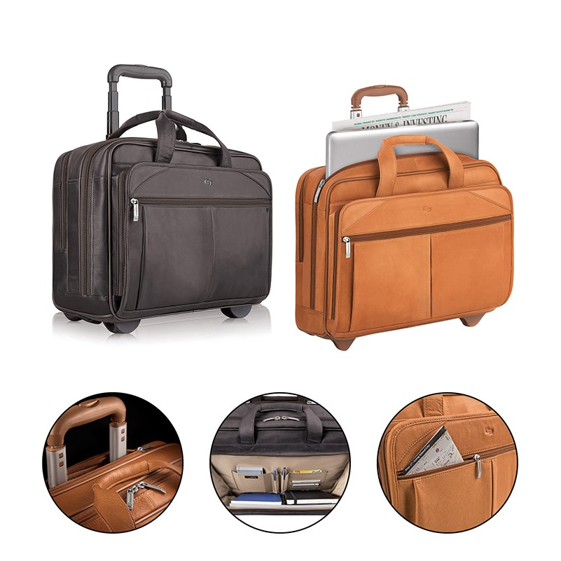 16460b460f Solo Walker Leather Rolling Case | Sovrano Gifts