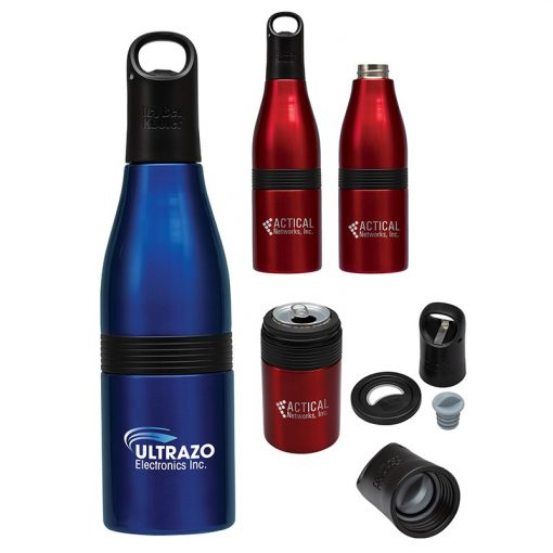 Liquid Fusion Icy Bev Kooler 22 oz. 3-In-1 Double Wall Stainless Steel Bottle