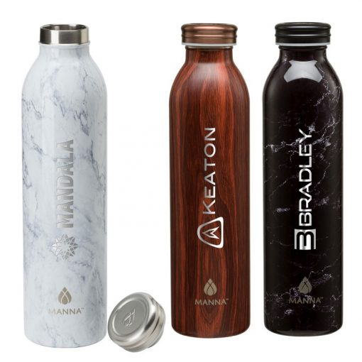 Manna 20 oz. Retro Stainless Steel Water Bottle