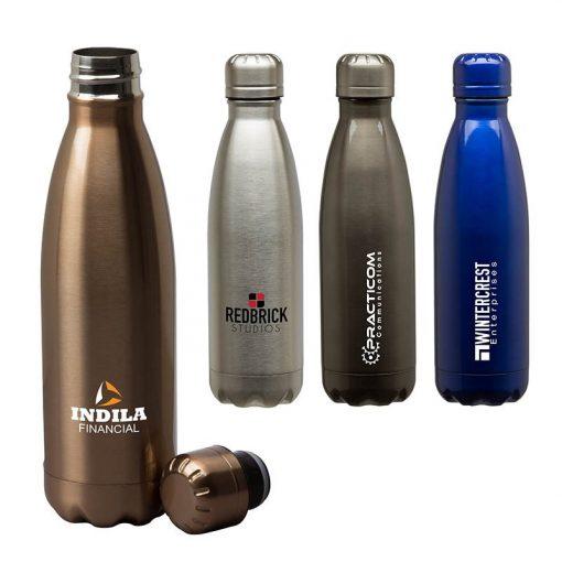 Palermo II 17 oz. Double Wall Stainless Steel Vacuum Bottle