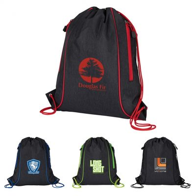 Seville Drawstring Bag w/ Color Accents